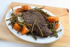 Pot roast ready for carving Royalty Free Stock Images