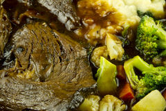 Pot Roast with Vegetables Stock Image
