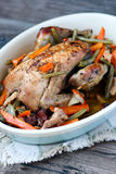Pot-roasted pheasant Royaltyfri Bild