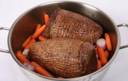 Pot roasting royalty free stock photo
