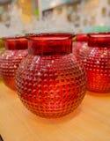 Pot rouge Photographie stock libre de droits