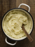 Pot of rustic mash potato Stock Photos