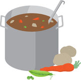 Pot Of Soup Stock Images