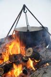 Pot of soup Royalty Free Stock Photos
