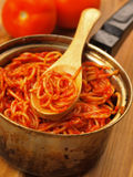 Pot of spaghetti Royalty Free Stock Images