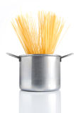 Pot with spaghetti Royalty Free Stock Photos