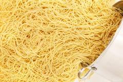 Pot of Spaghetti Noodles Stock Photography