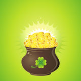 Pot for St. Patrick's Day Royalty Free Stock Image