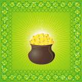pot for St. Patrick's, vector Stock Photography