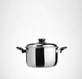 Pot or stainless steel cooking pot on a background. Stock Photography