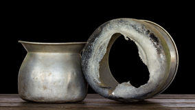 Pot steamed rice tear. Royalty Free Stock Photo