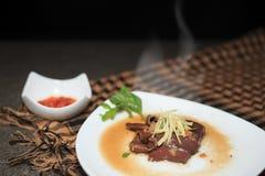 Pot-stewed blood tofu Royalty Free Stock Image