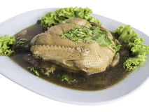 Pot stewed duck with coriander on top,clipping path.  Stock Image