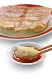 Pot stickers , gyoza ,  japanese food Stock Photography