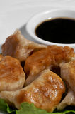 Pot Stickers and Sauce 1 Royalty Free Stock Photo