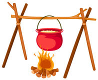 POT sul fuoco Fotografia Stock