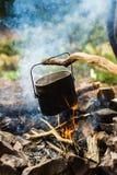POT sul fuoco Fotografie Stock