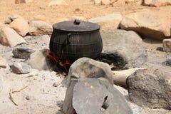POT sul fuoco Fotografia Stock Libera da Diritti