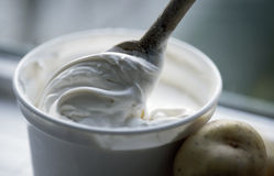 Pot of thick cream Royalty Free Stock Image