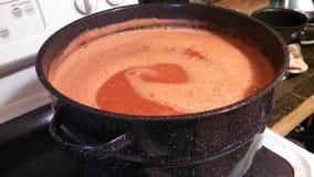 Pot of tomato soup Stock Image