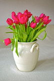 Pot with tulips Royalty Free Stock Photography