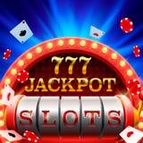 Pot 777 van casinogroeven uithangbord Royalty-vrije Stock Fotografie