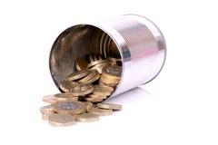 Pot van contant geld Stock Afbeelding