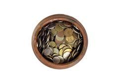 Pot van geld op bovenkant Royalty-vrije Stock Foto