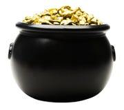 Pot van gouden goudklompjes Royalty-vrije Stock Foto