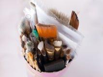 Pot van Penselen Stock Foto