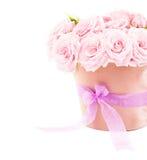 Pot van roze rozen Stock Foto's