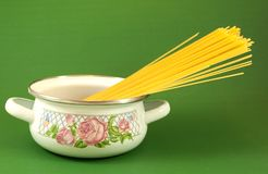 Pot with vermicelli Stock Photography