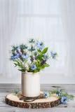 Pot Of Wild Flowers Stock Photo