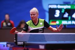POTA Georgina from Hungary forehand Royalty Free Stock Image