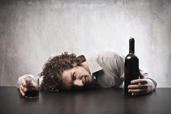 Potabile con vino fotografia stock