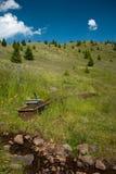 Potable water. Drinking-trough in the Hargitha Mountains, Transylvania Stock Image