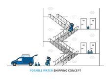 Potable water shipping vector illustration Royalty Free Stock Photos