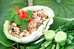 Potage épicé de fruits de mer photo libre de droits