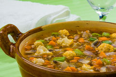 Potage 2 de Minestrone Image stock