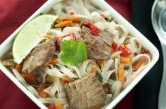 Potage asiatique de boeuf Images stock