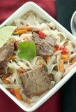 Potage asiatique de boeuf Image stock