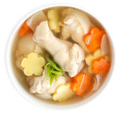 Potage au poulet Photos stock