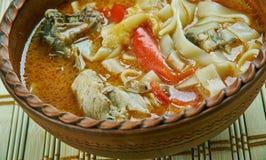 Potage au poulet roumain photos stock