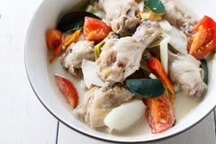 Potage au poulet thaïlandais en lait de noix de coco Images libres de droits