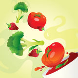 Potage aux légumes illustration libre de droits
