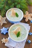 Potage aux légumes crémeux photos stock