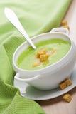 Potage aux légumes vert photographie stock