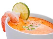 Potage avec des fruits de mer Image libre de droits