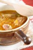 Potage avec le poulet et le couscous Photographie stock libre de droits