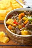 Potage avec les légumes et la viande image stock